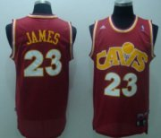 Wholesale Cheap Cleveland Cavaliers #23 LeBron James CavFanatic Red Swingman Throwback Jersey