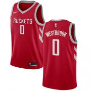 Wholesale Cheap Nike Rockets #0 Russell Westbrook Red NBA Swingman Icon Edition Jersey