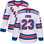 Wholesale Cheap Adidas Rangers #23 Adam Foxs White Road Authentic Women's Stitched NHL Jersey