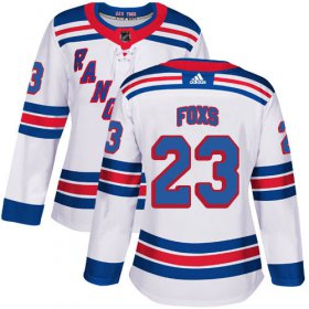 Wholesale Cheap Adidas Rangers #23 Adam Foxs White Road Authentic Women\'s Stitched NHL Jersey