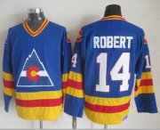 Wholesale Avalanche #14 Rene Robert Blue CCM Throwback Stitched NHL Jersey