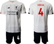 Wholesale Cheap Liverpool #4 Virgil Away Soccer Club Jersey