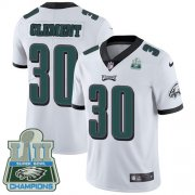 Wholesale Cheap Nike Eagles #30 Corey Clement White Super Bowl LII Champions Men's Stitched NFL Vapor Untouchable Limited Jersey