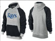 Wholesale Cheap Tampa Bay Rays Pullover Hoodie Grey & Blue