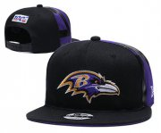 Wholesale Cheap Ravens Team Logo Black 2019 Draft 100th Season Adjustable Hat YD
