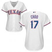 Wholesale Cheap Rangers #17 Shin-Soo Choo White Home Women's Stitched MLB Jersey