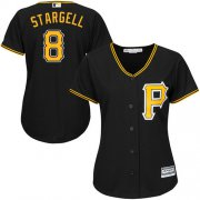 Wholesale Cheap Pirates #8 Willie Stargell Black Alternate Women's Stitched MLB Jersey