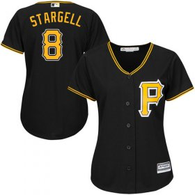 Wholesale Cheap Pirates #8 Willie Stargell Black Alternate Women\'s Stitched MLB Jersey