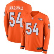 Wholesale Cheap Nike Broncos #54 Brandon Marshall Orange Team Color Men's Stitched NFL Limited Therma Long Sleeve Jersey