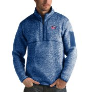 Wholesale Cheap Columbus Blue Jackets Antigua Fortune Quarter-Zip Pullover Jacket Blue
