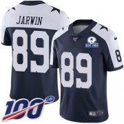 Wholesale Cheap Nike Cowboys #89 Blake Jarwin Navy Blue Thanksgiving Men's Stitched With Established In 1960 Patch NFL 100th Season Vapor Untouchable Limited Throwback Jersey