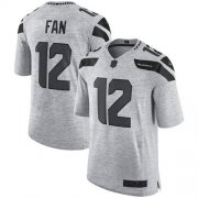 Wholesale Cheap Nike Seahawks #12 Fan Gray Men's Stitched NFL Limited Gridiron Gray II Jersey