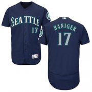 Wholesale Cheap Mariners #17 Mitch Haniger Navy Blue Flexbase Authentic Collection Stitched MLB Jersey