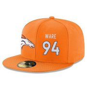 Wholesale Cheap Denver Broncos #94 DeMarcus Ware Snapback Cap NFL Player Orange with White Number Stitched Hat