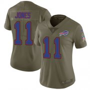 Wholesale Cheap Nike Bills #11 Zay Jones Olive Women's Stitched NFL Limited 2017 Salute to Service Jersey