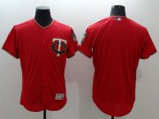 Wholesale Cheap Twins Blank Red Flexbase Authentic Collection Stitched MLB Jersey