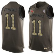 Wholesale Cheap Nike Cardinals #11 Larry Fitzgerald Green Men's Stitched NFL Limited Salute To Service Tank Top Jersey