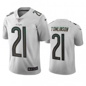 Wholesale Cheap Los Angeles Chargers #21 Ladainian Tomlinson White Vapor Limited City Edition NFL Jersey