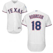 Wholesale Cheap Rangers #18 Drew Robinson White Flexbase Authentic Collection Stitched MLB Jersey