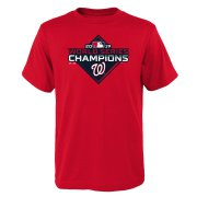 Wholesale Cheap Washington Nationals Majestic Youth 2019 World Series Champions Logo T-Shirt Red