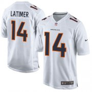 Wholesale Cheap Nike Broncos #14 Cody Latimer White Men's Stitched NFL Game Event Jersey