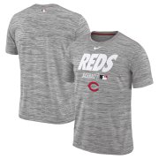 Wholesale Cheap Cincinnati Reds Nike Authentic Collection Velocity Team Issue Performance T-Shirt Gray