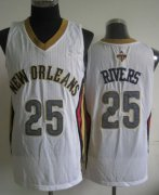Wholesale Cheap New Orleans Pelicans #25 Austin Rivers White Swingman Jersey