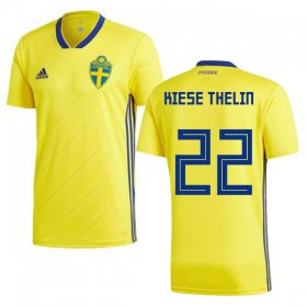 Wholesale Cheap Sweden #22 Kiese Thelin Home Soccer Country Jersey