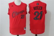 Wholesale Cheap Men's Chicago Bulls #21 Jimmy Butler Red 2016 Christmas Day Stitched NBA Swingman Jersey