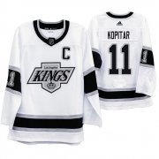 Wholesale Cheap Los Angeles Kings #11 Anze Kopitar Men's Adidas 2019-20 Heritage White Throwback 90s NHL Jersey