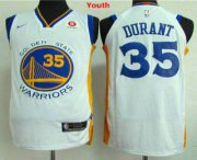 Cheap Youth Golden State Warriors #35 Kevin Durant White 2017-2018 Nike Swingman Rakuten Stitched NBA Jersey