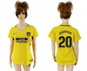 Wholesale Cheap Women's Atletico Madrid #20 Juanfran Away Soccer Club Jersey