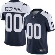 Wholesale Cheap Nike Dallas Cowboys Customized Navy Blue Thanksgiving Stitched Vapor Untouchable Limited Throwback Youth NFL Jersey