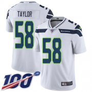Wholesale Cheap Nike Seahawks #58 Darrell Taylor White Men's Stitched NFL 100th Season Vapor Untouchable Limited Jersey