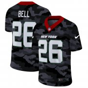 Cheap New York Jets #26 Le'Veon Bell Men's Nike 2020 Black CAMO Vapor Untouchable Limited Stitched NFL Jersey