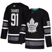 Wholesale Cheap Adidas Maple Leafs #91 John Tavares Black Authentic 2019 All-Star Stitched Youth NHL Jersey