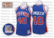 Wholesale Cheap Detroit Pistons #40 Bill Laimbeer Blue Swingman Throwback Jersey