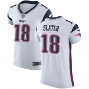 Wholesale Cheap Nike Patriots #18 Matt Slater White Men's Stitched NFL Vapor Untouchable Elite Jersey