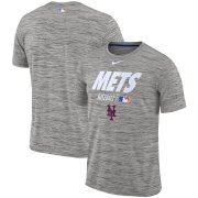 Wholesale Cheap New York Mets Nike Authentic Collection Velocity Team Issue Performance T-Shirt Gray