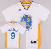 Wholesale Cheap Golden State Warriors #9 Andre Iguodala Revolution 30 Swingman 2014 New White Short-Sleeved Jersey