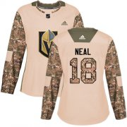Wholesale Cheap Adidas Golden Knights #18 James Neal Camo Authentic 2017 Veterans Day Women's Stitched NHL Jersey