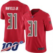 Wholesale Cheap Nike Buccaneers #31 Antoine Winfield Jr. Red Youth Stitched NFL Limited Rush 100th Season Jersey