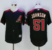 Wholesale Cheap Diamondbacks #51 Randy Johnson Black/Brick New Cool Base Stitched MLB Jersey