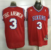 Wholesale Cheap Men's Philadelphia 76ers #3 The Answer Nickname Red Soul Swingman Jersey