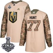Wholesale Cheap Adidas Golden Knights #77 Brad Hunt Camo Authentic 2017 Veterans Day 2018 Stanley Cup Final Stitched Youth NHL Jersey