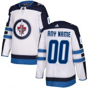 Wholesale Cheap Men's Adidas Jets Personalized Authentic White Road NHL Jersey