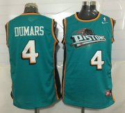 Wholesale Cheap Men's Detroit Pistons #4 Joe Dumars Teal Green Hardwood Classics Soul Swingman Throwback Jersey