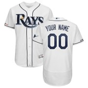 Wholesale Cheap Tampa Bay Rays Majestic Home Authentic Collection Flex Base Custom Jersey White
