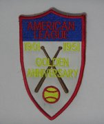 Wholesale Cheap Stitched MLB American League 1901-1951 Golden Anniversary Jersey Patch