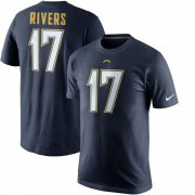 Wholesale Cheap Los Angeles Chargers #17 Philip Rivers Nike Player Pride Name & Number T-Shirt Navy